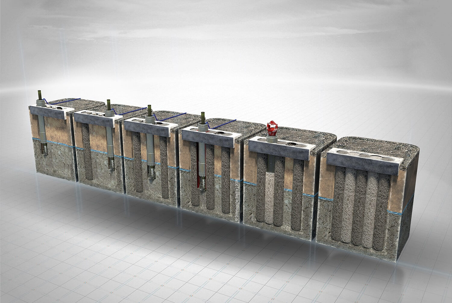 Retaining Wall Solution - Secant Piled Wall (CGI)
