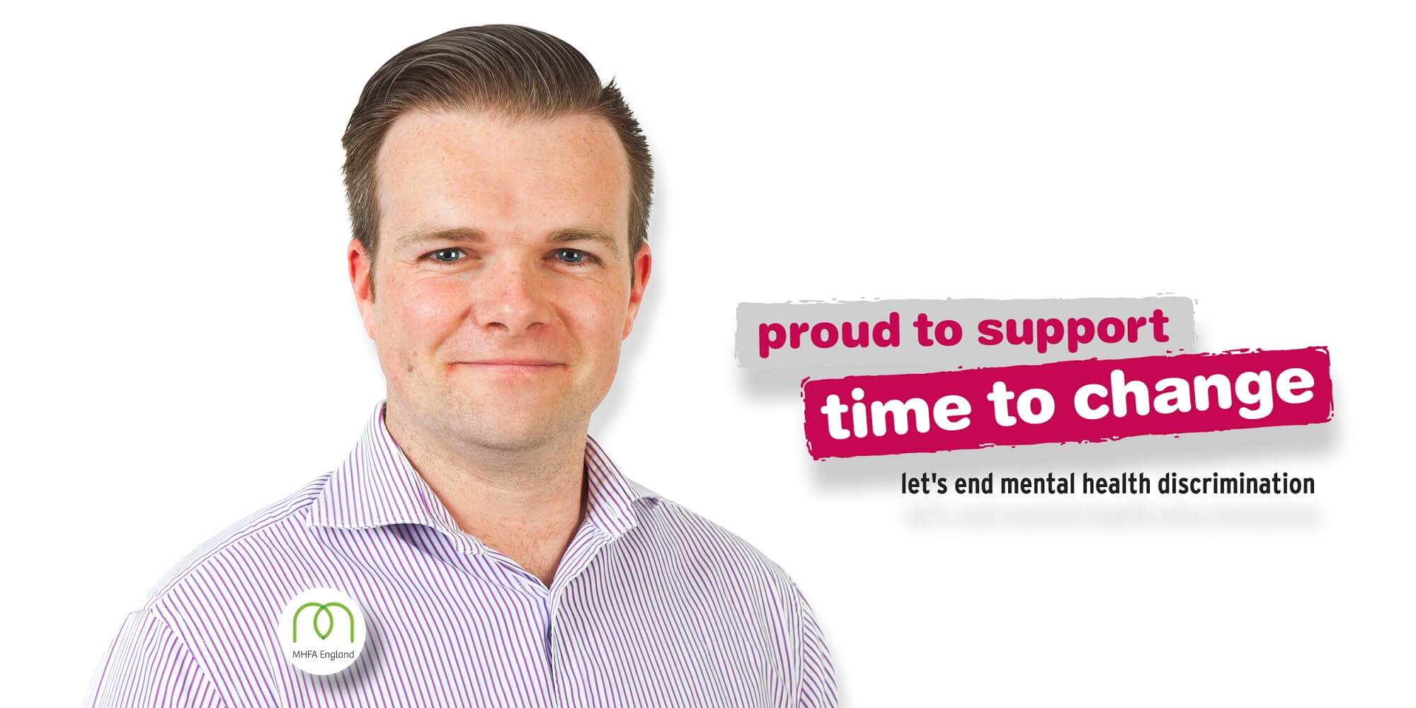 Insights - Its Time to Talk, with Jonathan Rimmer - Portrait Photo with Time To Change Logo