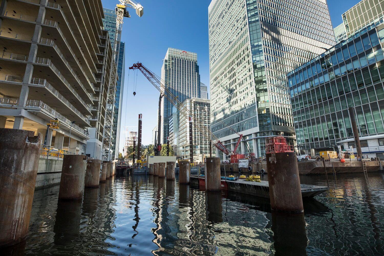 Foundations Solution - Bridge On Water Street Canary Wharf - Marine LDA Piling minipiling (2)