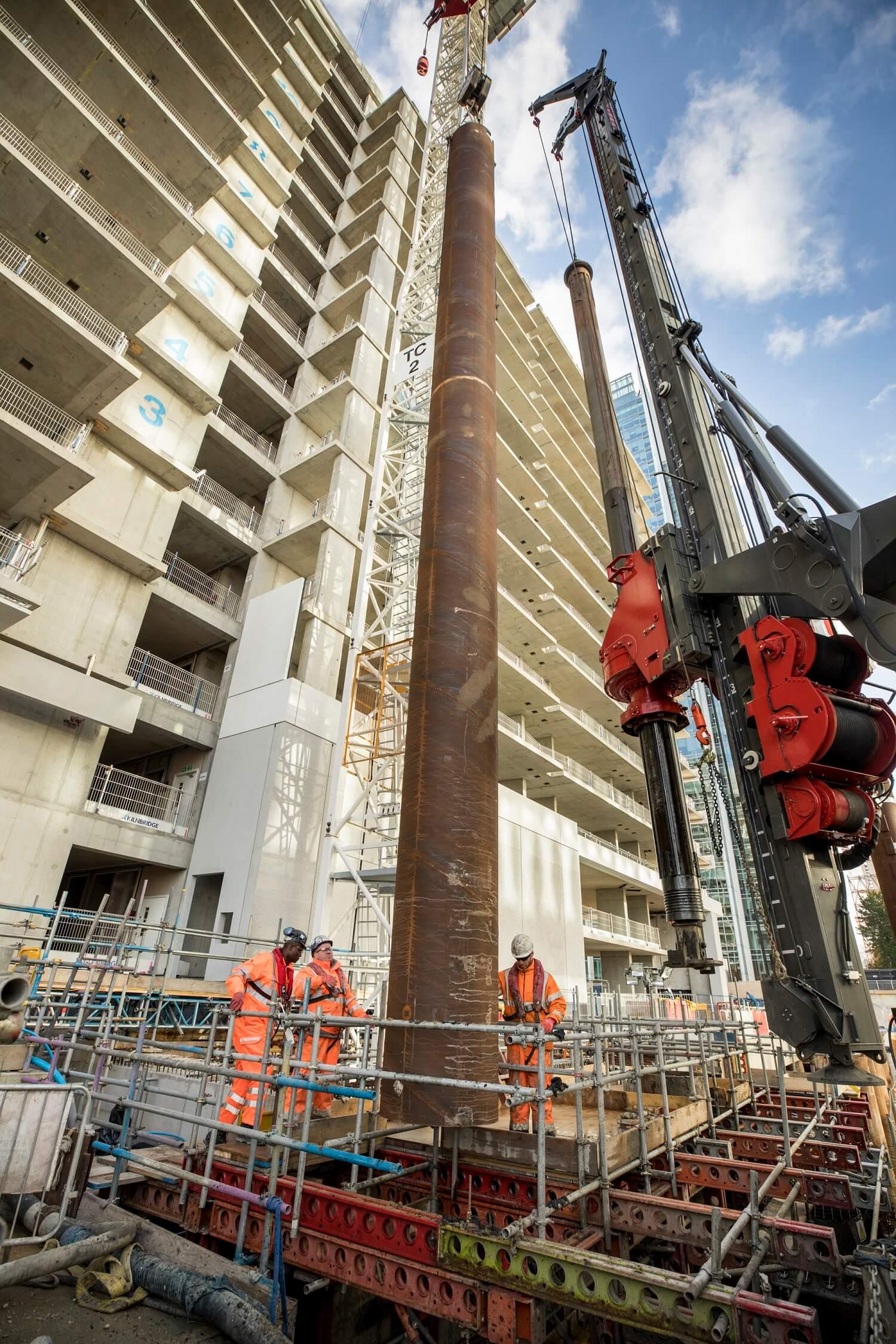 Foundations Solution - Bridge On Water Street Canary Wharf - Marine LDA Piling minipiling (5)