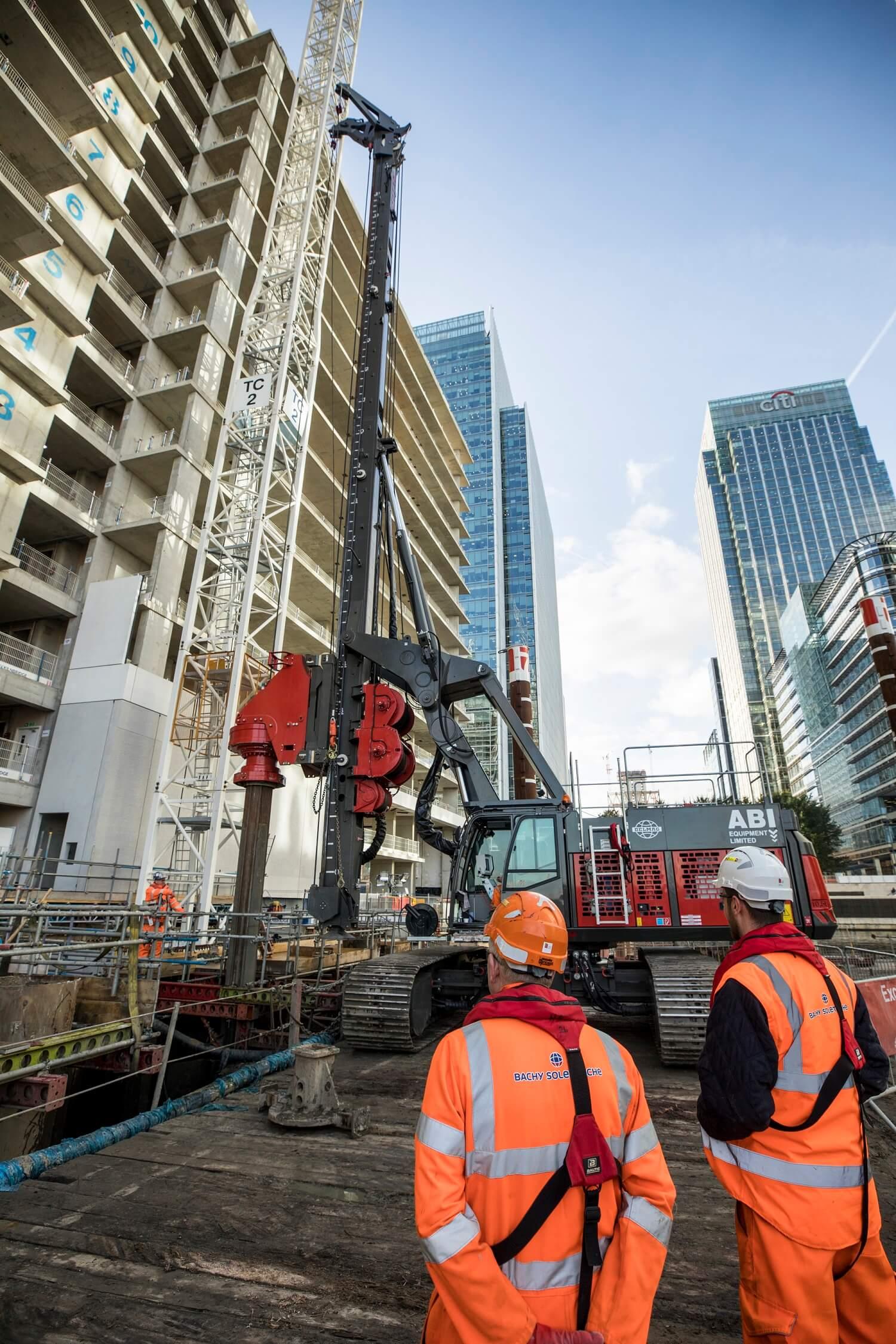 Foundations Solution - Bridge On Water Street Canary Wharf - Marine LDA Piling minipiling (8)