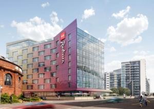 Foundations Solution - Radisson Red Hotel Glasgow - Large DIameter Auger LDA Piling (CGI)