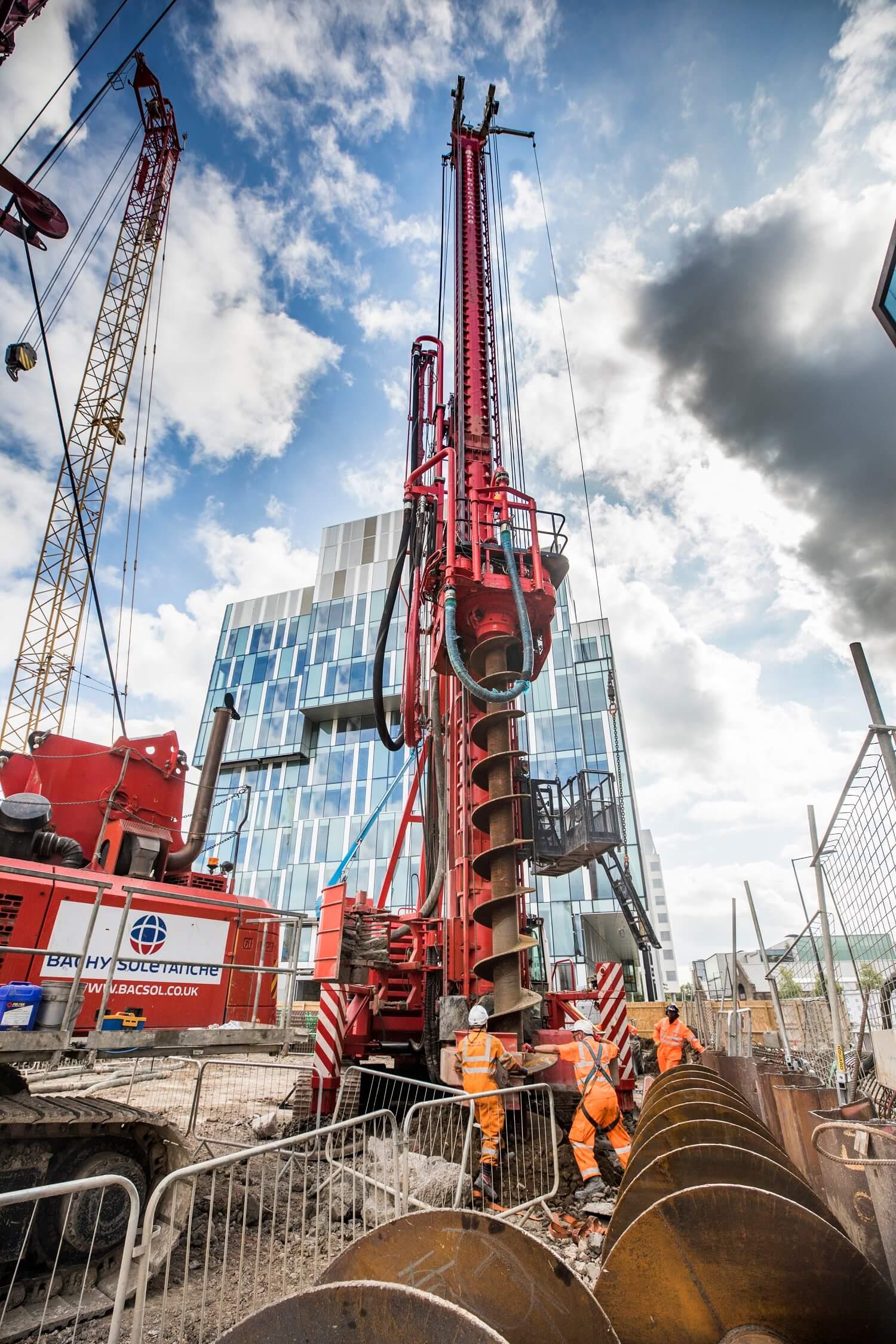 Retaining Wall Solution - Kings Cross S1 Development - Contiguous Pile Wall CFA LDA Piling (3)