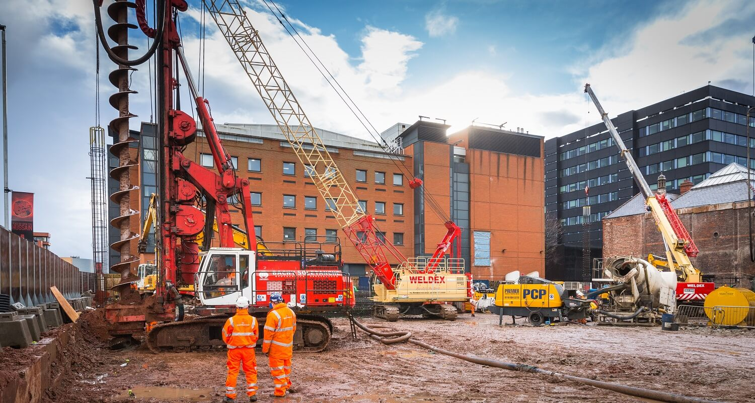 Retaining Wall Solution - Manchester Met University Arts & Humanities Project - Contiguous Wall (4)