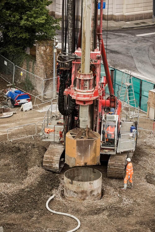 Retaining Wall Solution - Secant Retaining Wall LDA Piling - Spire London (2)