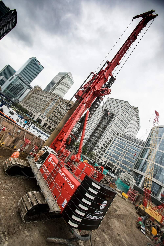 Retaining Wall Solution - Secant Retaining Wall LDA Piling - Spire London (3)