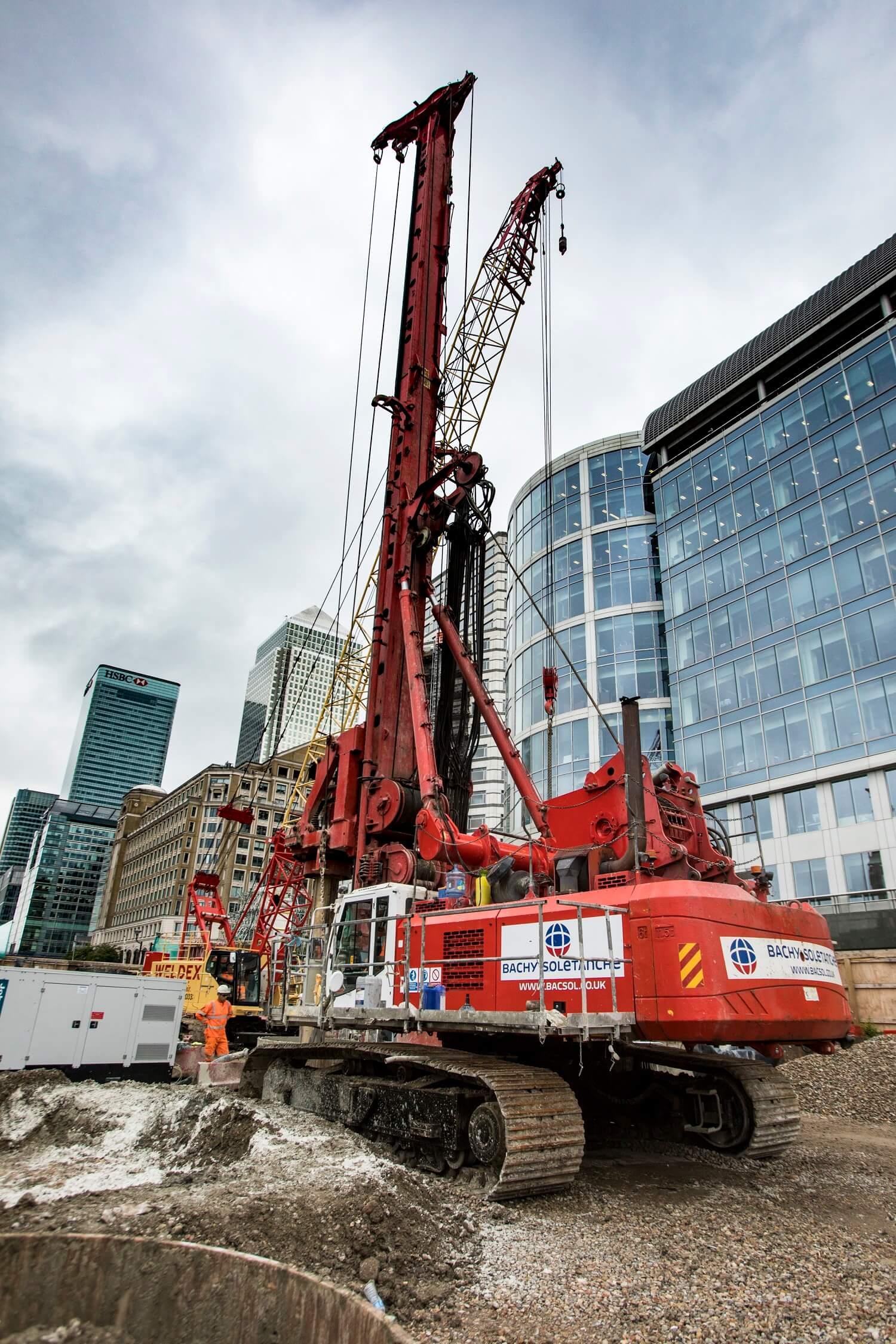 Retaining Wall Solution - Secant Retaining Wall LDA Piling - Spire London (6)