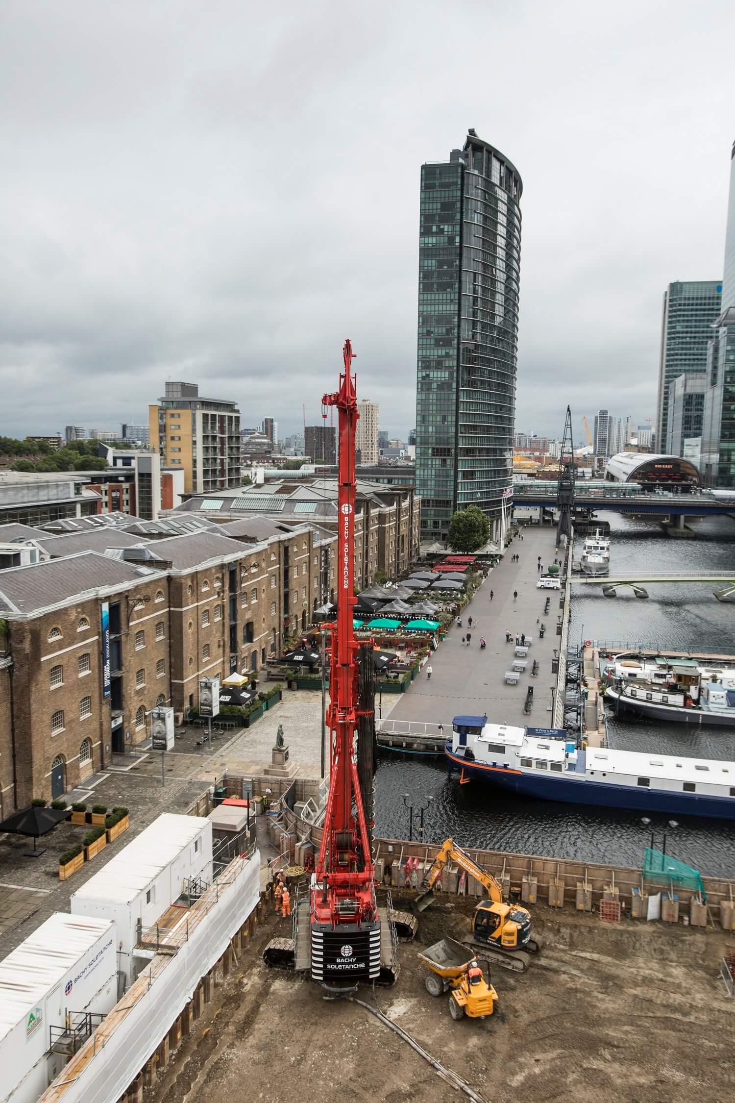 Retaining Wall Solution - Secant Retaining Wall LDA Piling - Spire London (8)