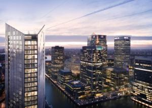 Retaining Wall Solution - The Madison Canary Wharf Project - Secant Pile Wall Contiguous Pile Wall CFA Piles (CGI 1)
