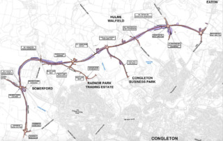 Insights - Bachy Soletanche Awarded Geotechnical Package On Congleton Link Road Project - Scheme Map