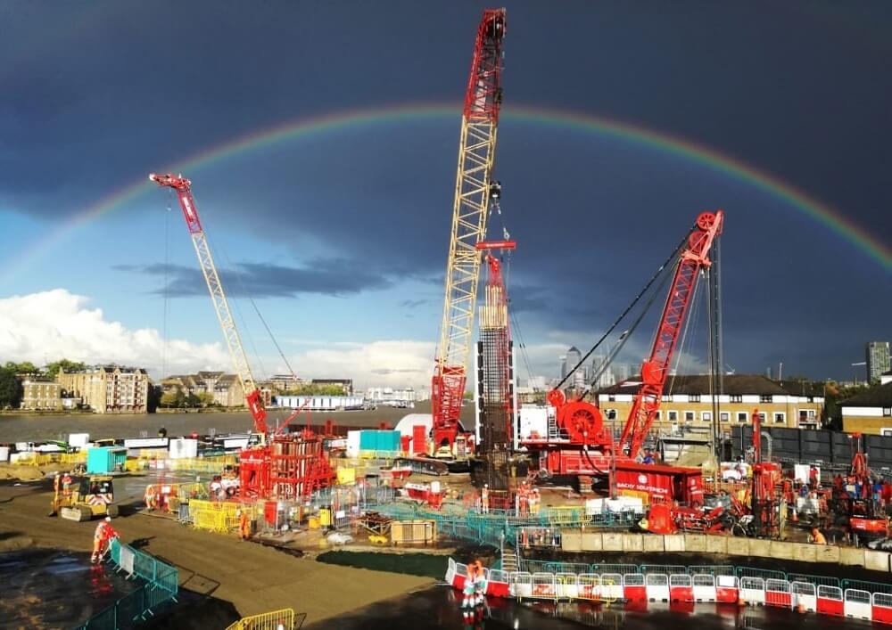 Insights - Insider Update with Ana Carvalho, Design Manager -Tideway Diaphragm Walll Hydrofraise Rig under Rainbow