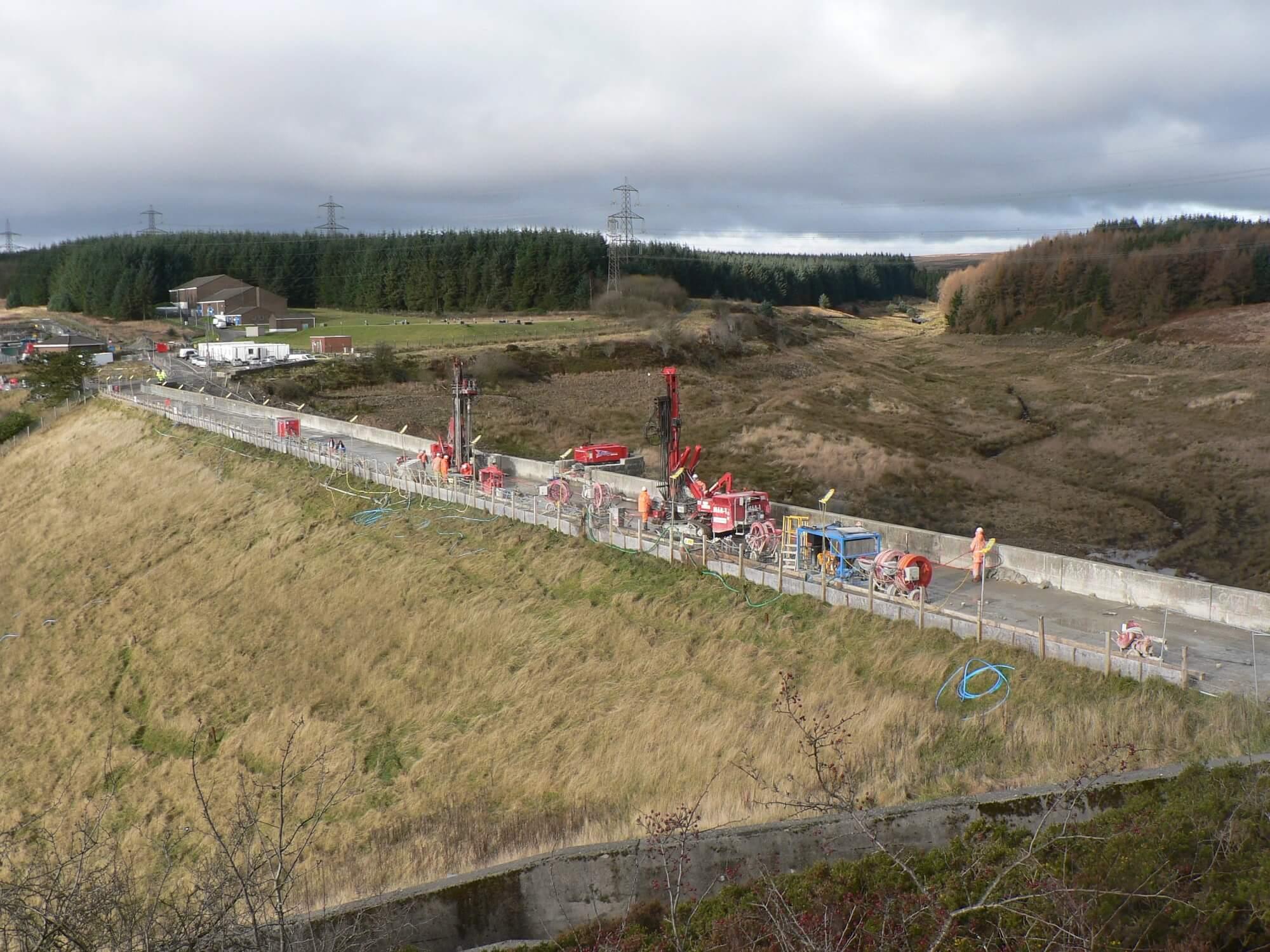 Environmental Solution - Lower Carno Dam Stabilisation - Slurry Cut Off Wall (5)