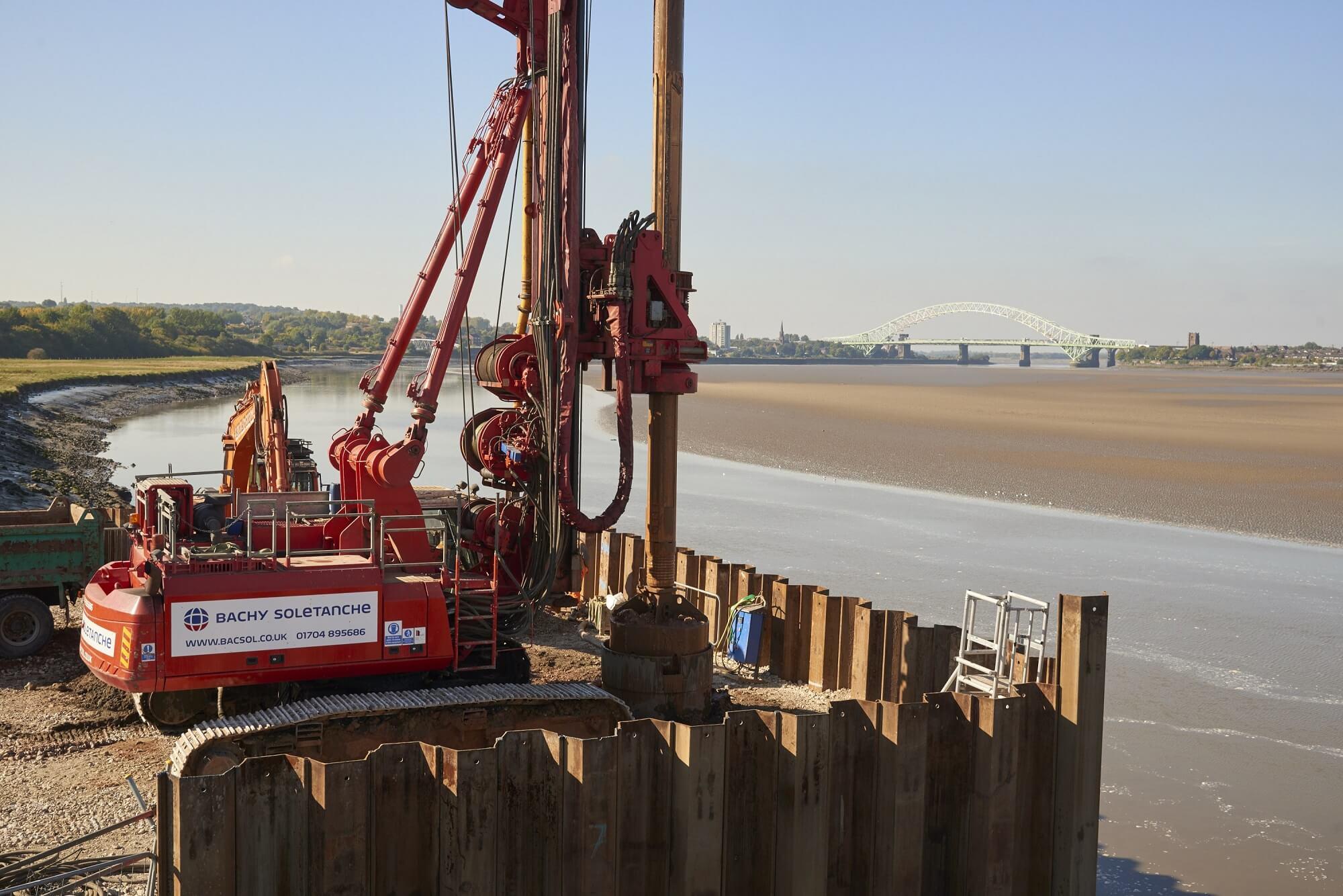 Foundations Retaining Wall Solution - Mersey Gateway Bridge - CFA LDA Secant Wall (4)