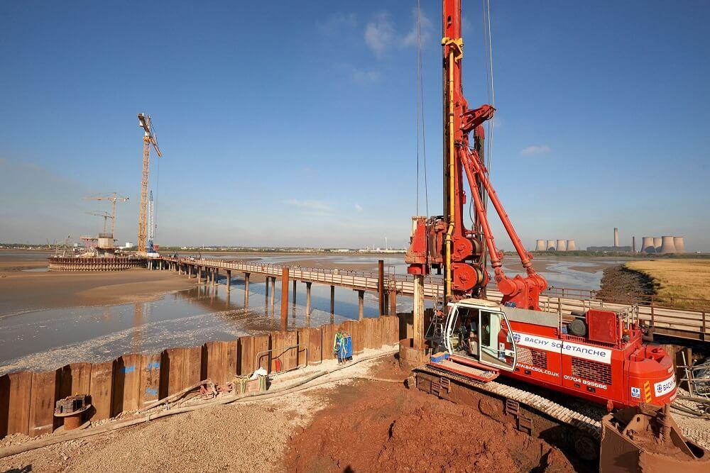 Foundations Retaining Wall Solution - Mersey Gateway Bridge - CFA LDA Secant Wall (9)