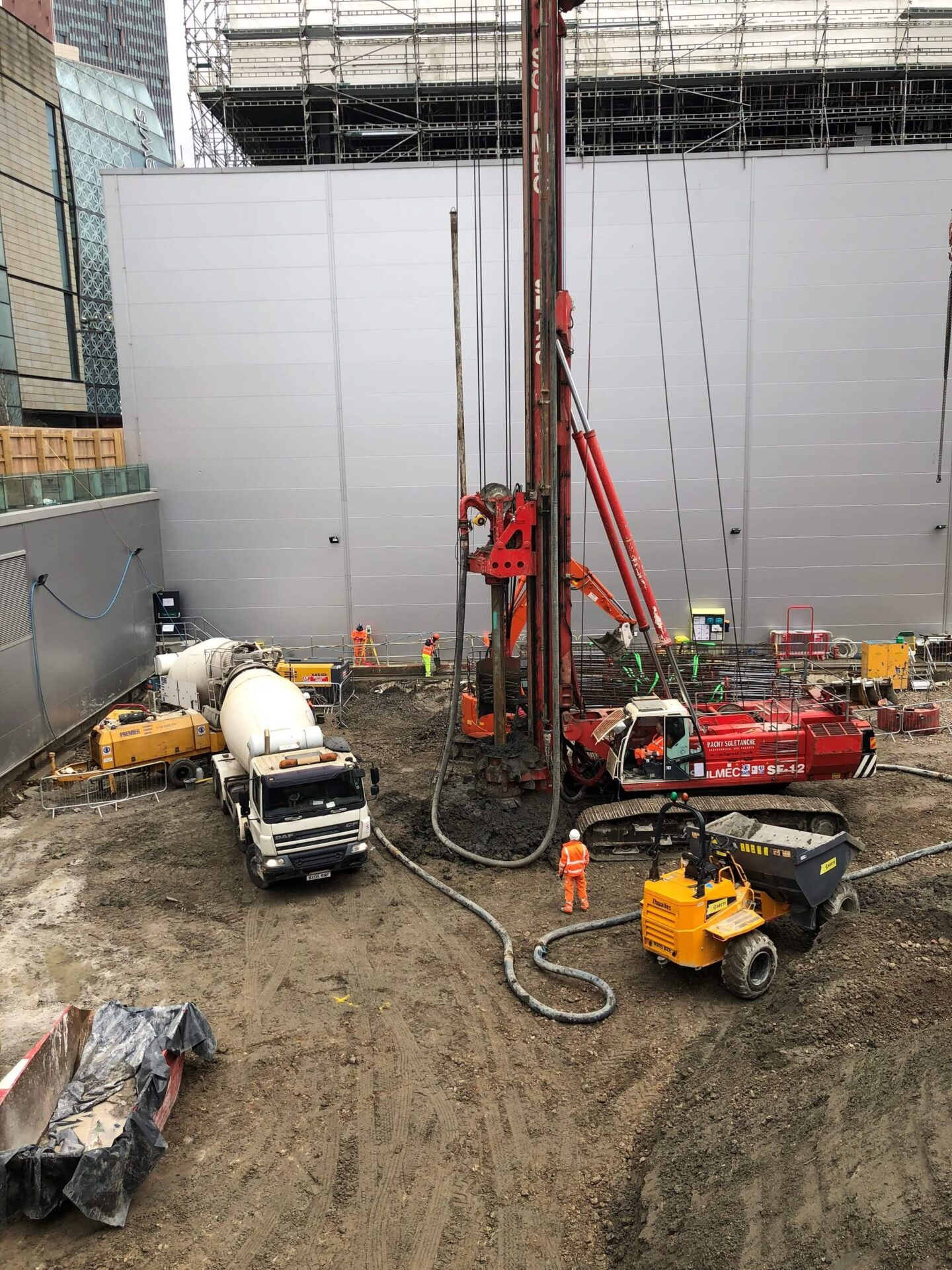 Foundations Solution - M7 Offices Stratford - CFA Piling (4)