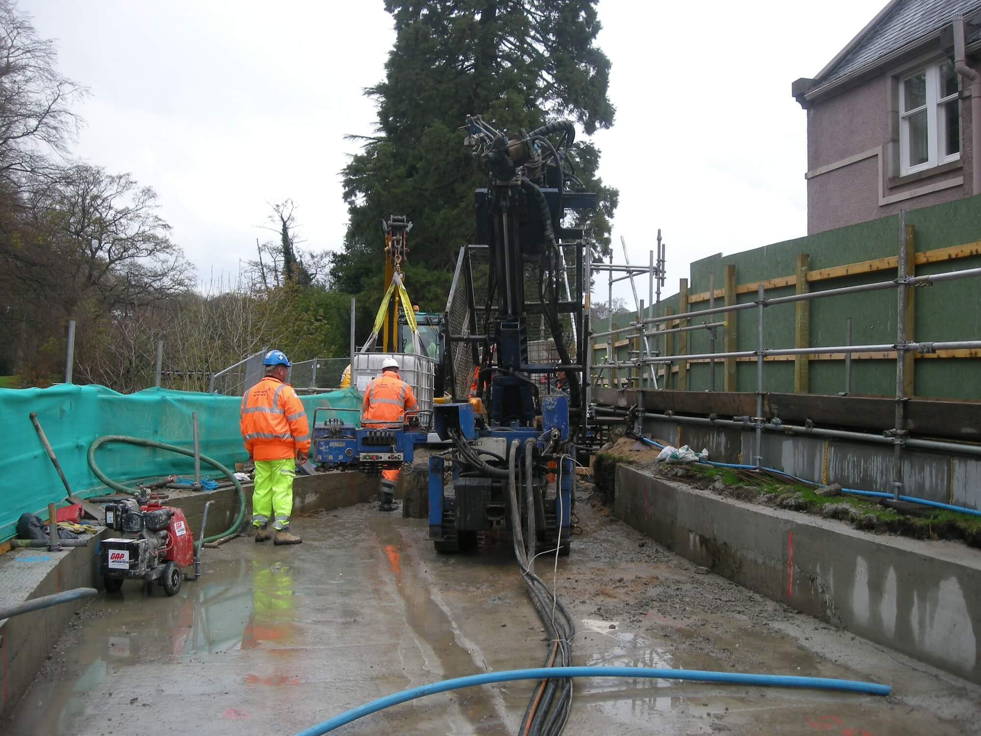 Foundations Solution - Restricted Access Piling - Elgin Flood Relief Scheme (2)