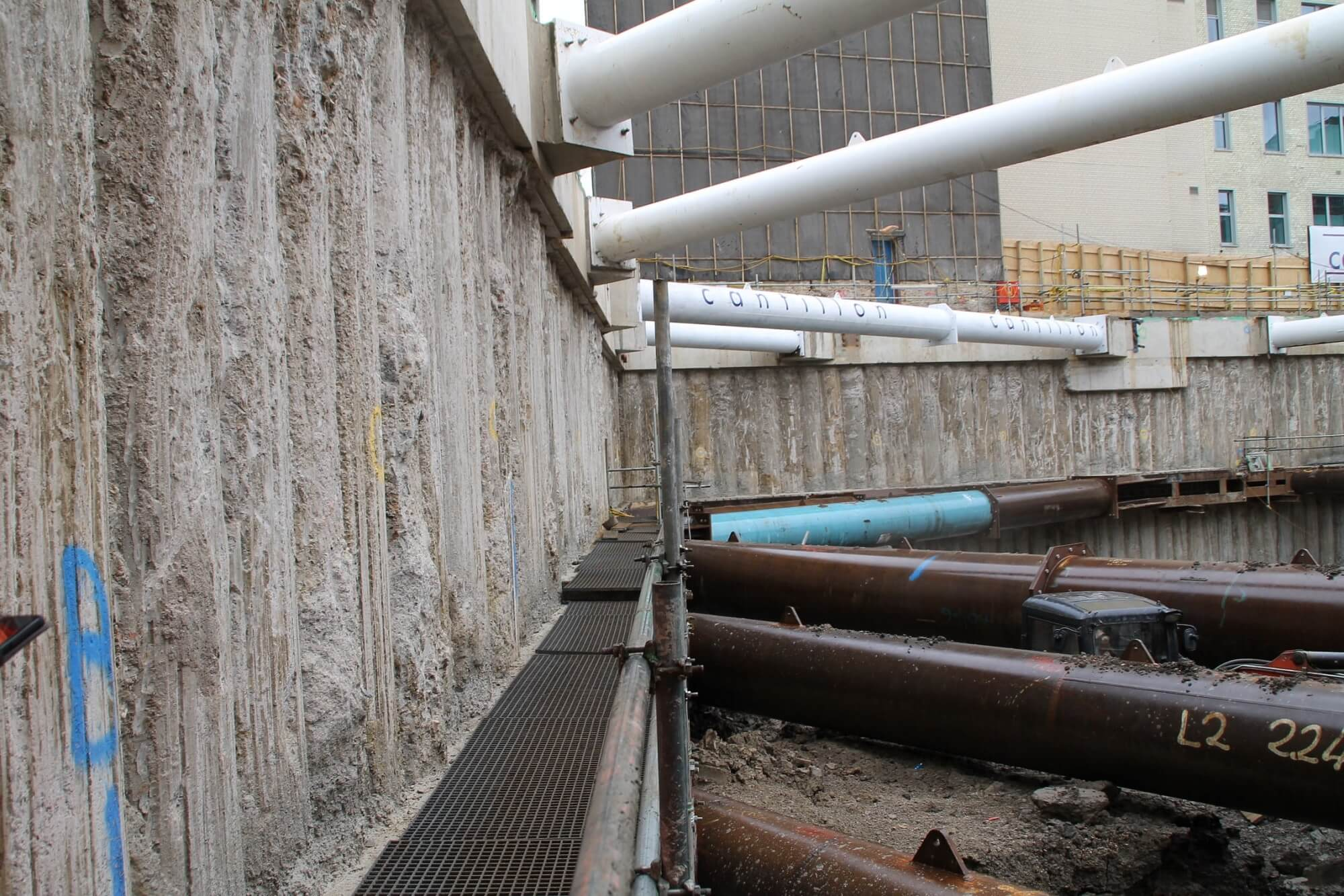 Retaining Wall Solution - Ilona Rose House, Tottenham Court Road - LDA piling Secant Wall Basement (1)