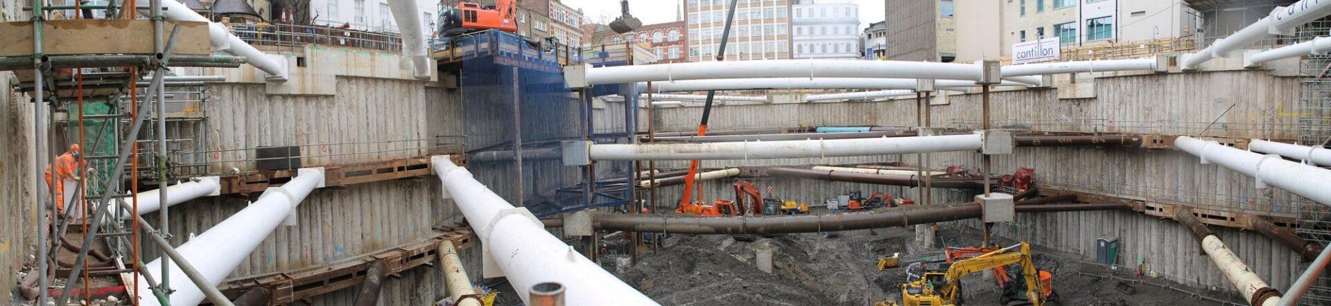 Retaining Wall Solution - Ilona Rose House, Tottenham Court Road - LDA piling Secant Wall Basement (2)