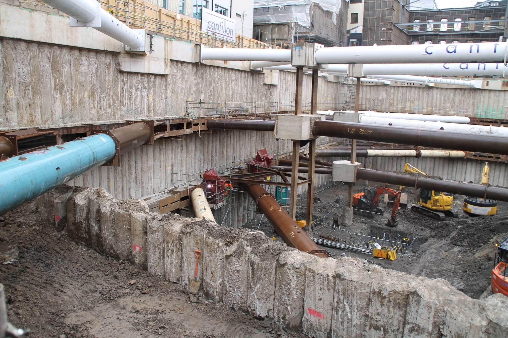Retaining Wall Solution - Ilona Rose House, Tottenham Court Road - LDA piling Secant Wall Basement (6)