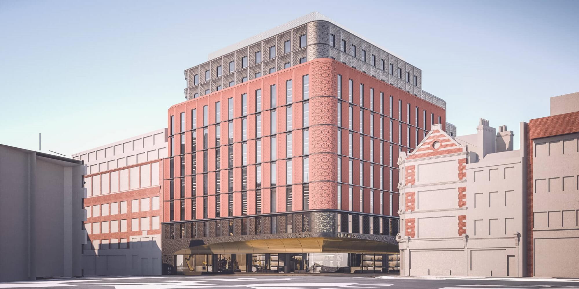 Retaining Wall Solution - Ilona Rose House, Tottenham Court Road - LDA piling Secant Wall Basement (CGI)