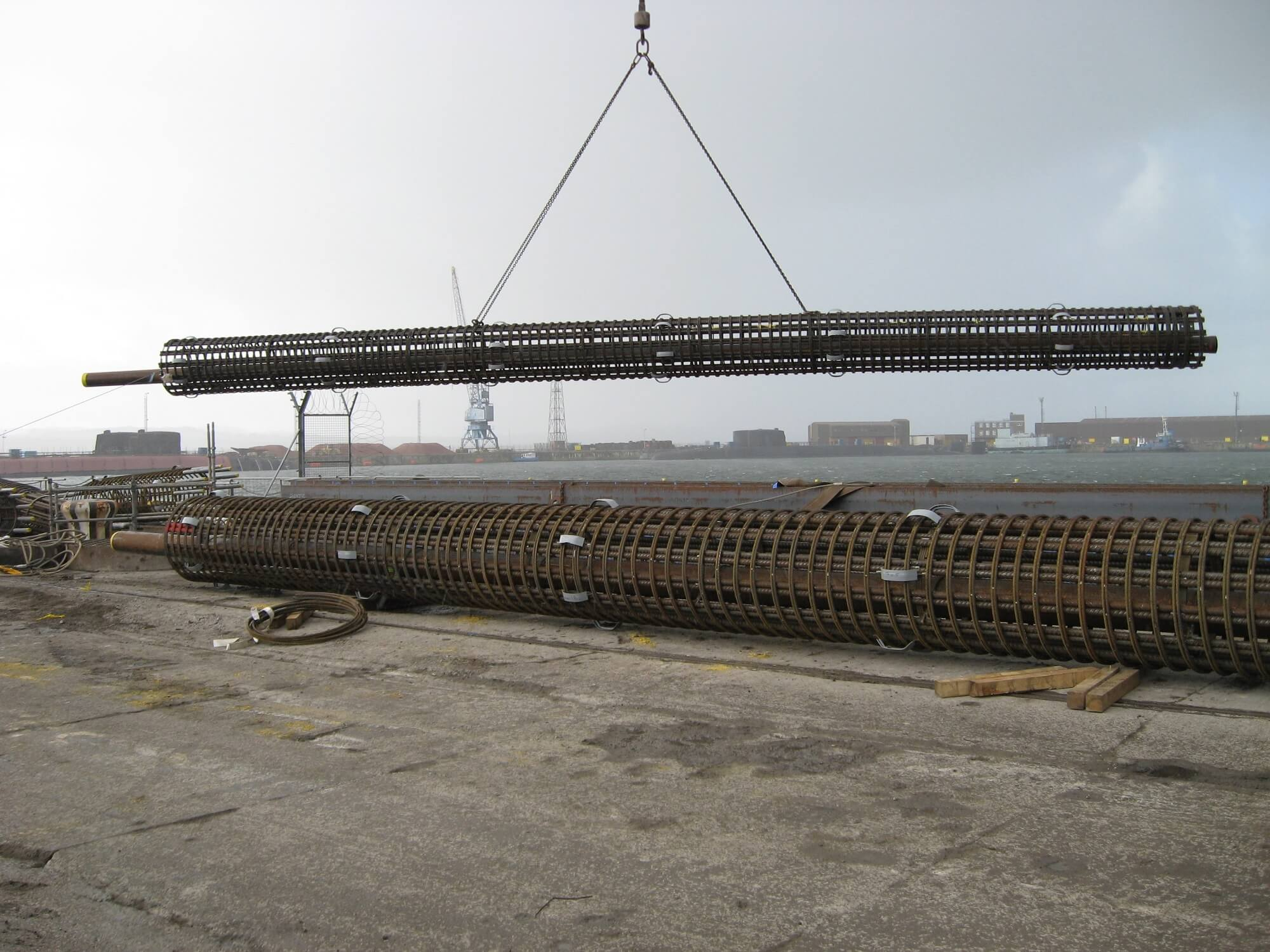 Retaining Wall Solution - Rosyth Dock Yard- Secant Wall (2)