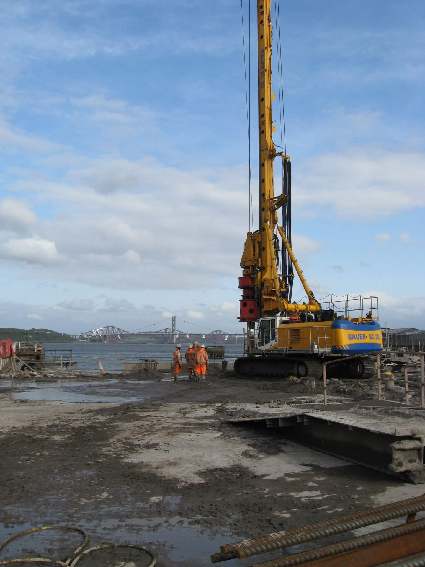 Retaining Wall Solution - Rosyth Dock Yard- Secant Wall (3)