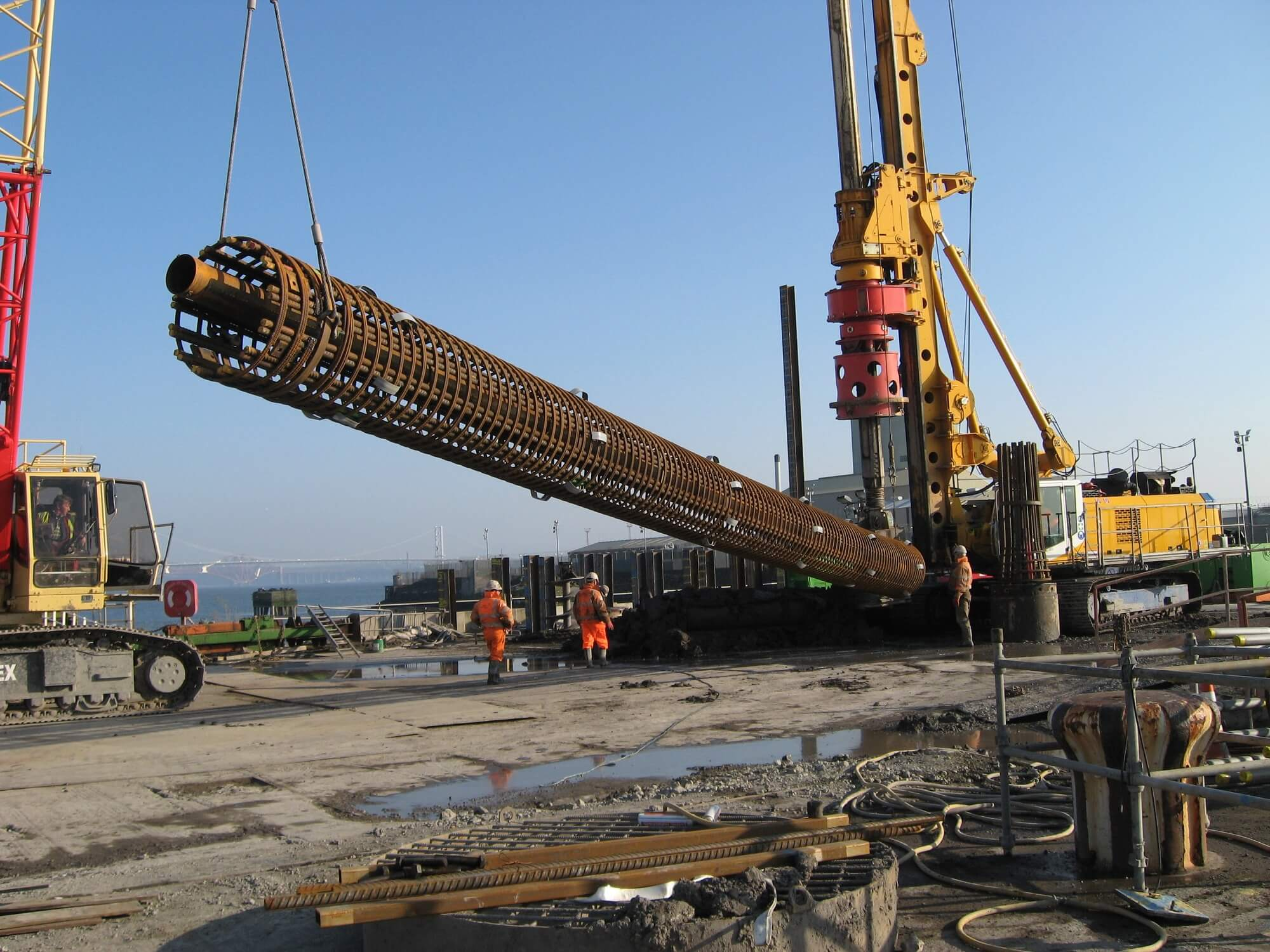 Retaining Wall Solution - Rosyth Dock Yard- Secant Wall (4)