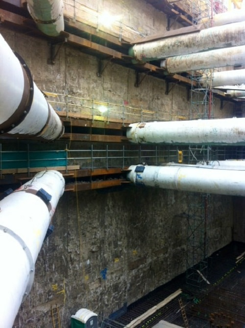 Retaining Wall Solution - Tottenham Court Road Station Project - Diaphragm Wall (2)